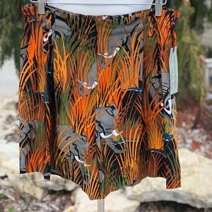 NWT Ellen Tracy elephant safari silk shorts sz 12